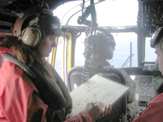 Painting in a Sea King