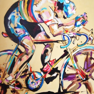 Greg LeMond Painting