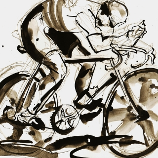 Greg LeMond Sketch
