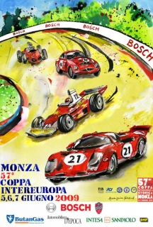 The official 2009 poster for the Monza Coppa Intereuropa